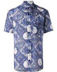 Yoshio Kubo - Nautical Print Shortsleeved Shirt - Lyst