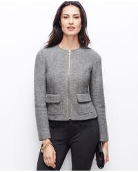 Ann Taylor Boiled Wool Jacket - Lyst