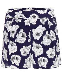 Nina Ricci - Printed Silk Shorts - Lyst
