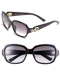Dior Women'S Christian 'Issimo 2' 56Mm Sunglasses - Black/ Brown - Lyst