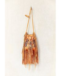 Urban Outfitters Leather Bead Fringe Bucket Bag - Lyst