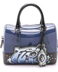 Furla Graffiti Candy Cookie Mini Satchel - Indigo blue - Lyst