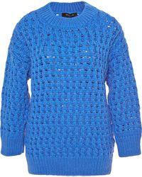 Derek Lam Crocheted Wool and Angora-blend Sweater - Lyst
