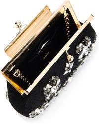 Dolce   Gabbana - Sara Lace And Crystal Evening Bag - Lyst 9070af910c7dc