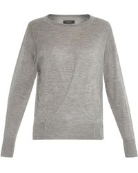 Isabel Marant Ben Cashmere And Silk-Blend Sweater gray - Lyst