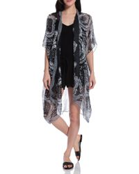 Spun Scarves Printed Kimono - Lyst