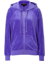 Juicy Couture Velour Relaxed J Bling Hoodie - Lyst