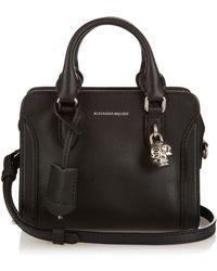 Alexander McQueen - Padlock Mini Grained-leather Cross-body Bag - Lyst