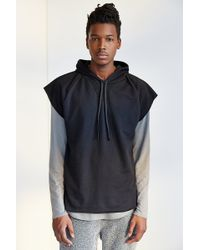 BDG - Cap-Sleeve Pullover Hooded Sweatshirt - Lyst