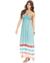 American Rag Printed Halter Maxi Dress - Lyst