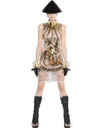 KTZ Sequined Silk Organza Dress - Lyst