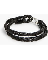 Mango | Leather Double Bracelet | Lyst