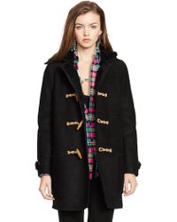 Polo Ralph Lauren Hooded Shearling Toggle Coat - Lyst