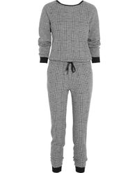 Tibi Chadwick Houndstooth Wool and Cottonblend Jumpsuit - Lyst