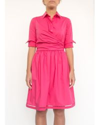 Carven | Collared Dress Fuchsia | Lyst