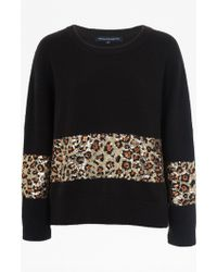 French Connection | Leopard Sequin Vhari Jumper | Lyst