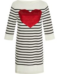 Marc Jacobs Striped Sequin Embellished Knit Tunic - Lyst