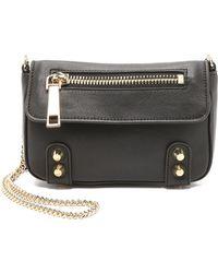 Linea Pelle - Lady Dylan Mini Shoulder Bag - Black - Lyst