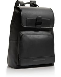 Calvin Klein Peter Faux Leather Flap Backpack - Lyst