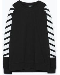 Zara Long-Sleeved T-Shirt - Lyst