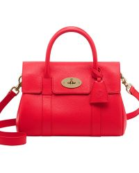 Mulberry Small Bayswater Grained Leather Bag - Lyst