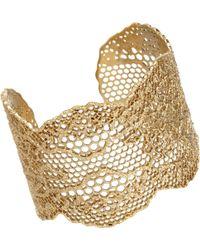 Aurelie Bidermann Lace Cuff gold - Lyst