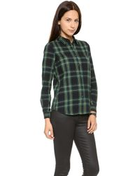Madewell Plaid Flannel Boyshirt  Nightvision - Lyst