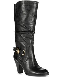 Guess Mallay Leather Boots - Lyst