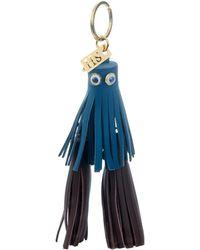 Sophie Hulme - Jane Bi-Colour Leather Tassel Key Ring - Lyst