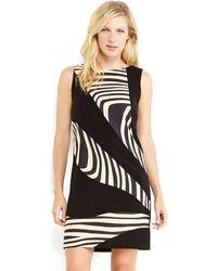 Tahari By Arthur S Levine Black Illusion Print Sheath Dress - Lyst
