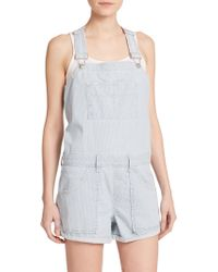 Joe's Jeans High-Rise Short Denim Overalls - Lyst