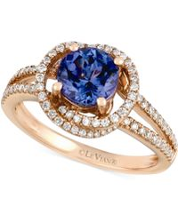Le Vian Tanzanite 1-15 Ct Tw and Diamond 38 Ct Tw Ring in 14k Rose Gold - Lyst