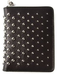 Alexander McQueen Black Studded Wallet - Lyst