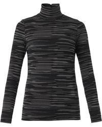Stella McCartney Melange-Knit Roll-Neck Sweater - Lyst