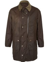 Barbour Olive Mallard Casual Wax Jacket - Lyst