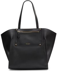 Vince Camuto Leather Wing Tote - Lyst