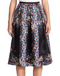 Erdem   Ina Floral Silk Ball Skirt   Lyst