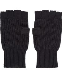 Marc By Marc Jacobs - Black Knit Fingerless Gloves - Lyst