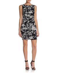 Alice + Olivia Bebe Floral-print Sheath Dress - Lyst