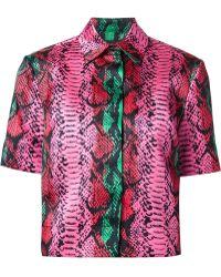 House Of Holland Snakeskin Print Shirt - Lyst