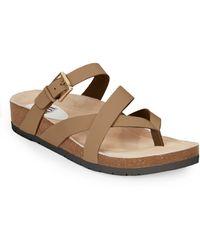 Söfft - Brooke Leather Crisscross Sandals - Lyst