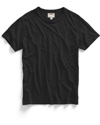 Todd Snyder Slub Jersey Crew T-Shirt In Black - Lyst