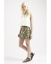 Topshop Premium A-Line Jacquard Skirt - Lyst