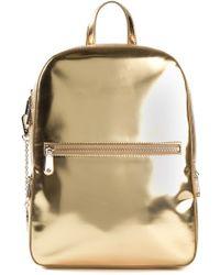 DKNY Gold Metallic Backpack - Lyst