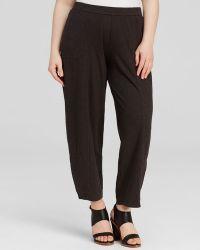 Eileen Fisher Plus Cropped Wide Leg Pants - Lyst