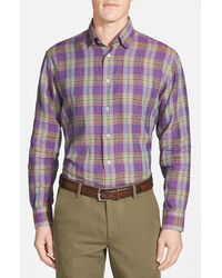 Robert Talbott 'Anderson' Classic Fit Plaid Sport Shirt - Lyst