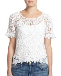 Generation Love Floral Lace & Mesh Top - Lyst