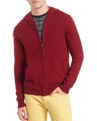Saks Fifth Avenue Collection | Full Zip Hoodie | Lyst