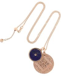 Monica Vinader Ava Button Necklace blue - Lyst