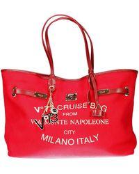 V73 Handbag Bag Cruise Montenapoleone Canvas Big - Lyst